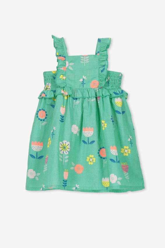 Beth Dress, SPEARMINT/FLORAL