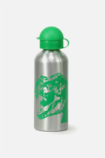 Aluminium Drink Bottle, SILVER JURASSIC PARK