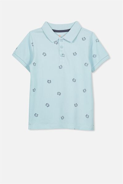 Kenny3 Polo, ICY AQUA/CRAB YDG