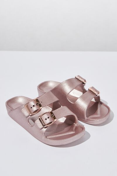 Twin Strap Slide, ROSE GOLD