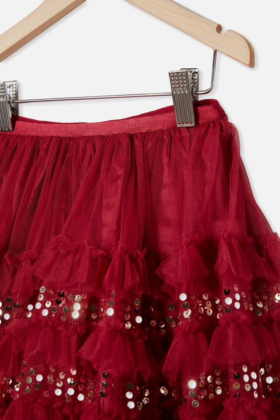 Trixiebelle Dress Up Skirt, BERRY/RUFFLES