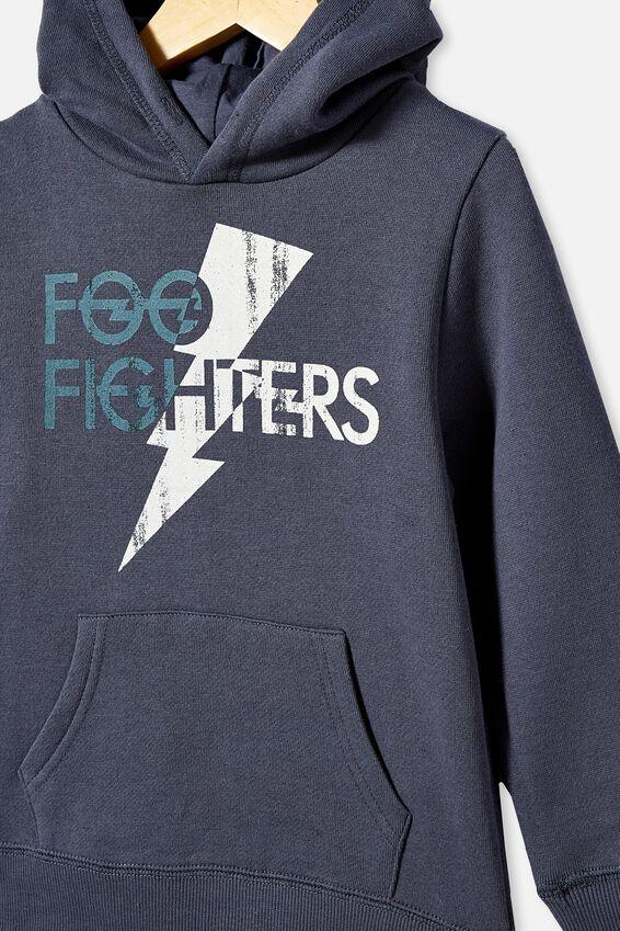 License Hoodie, LCN FOO FIGHTERS/VINTAGE NAVY