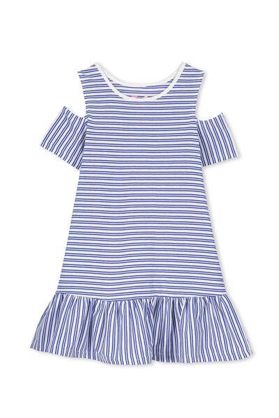 Miranda Dress, VANILLA/WALTER BLUE STRIPE