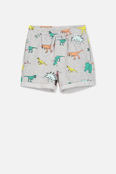 Henry Slouch Short, LIGHT GREY MARLE/DINOS