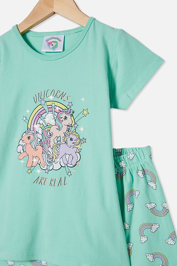 Harpa Short Sleeve Pyjama Set, LCN HAS MLP UNICORNS ARE REAL/DREAM BLUE