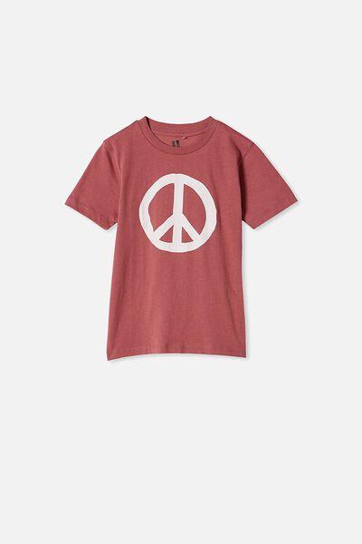 Max Skater Short Sleeve Tee, VINTAGE BERRY/PEACE
