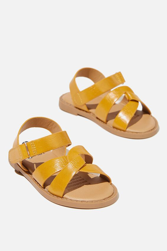 Mini Fisherman Weave Sandal, HONEY GOLD