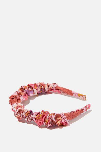 Crinkle Headband, BOHO FLORAL