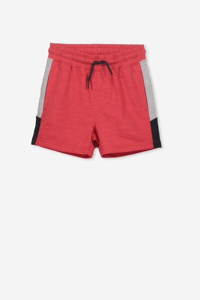 Henry Slouch Short, SOPHIE RED/SPLICE