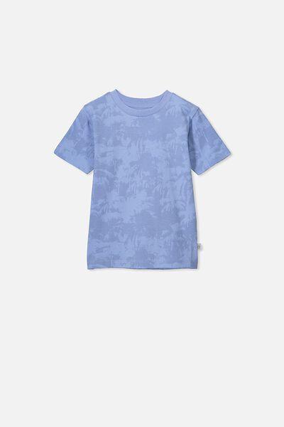 Max Skater Short Sleeve Tee, POWDER PUFF BLUE/PALMS