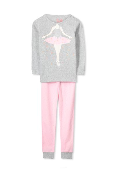 Kristen Long Sleeve Girls PJs, IM A BALLERINA