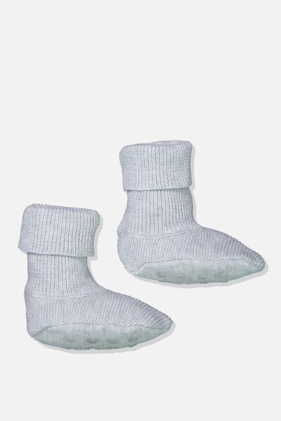 Baby Knitted Bootie, CLOUD MARLE