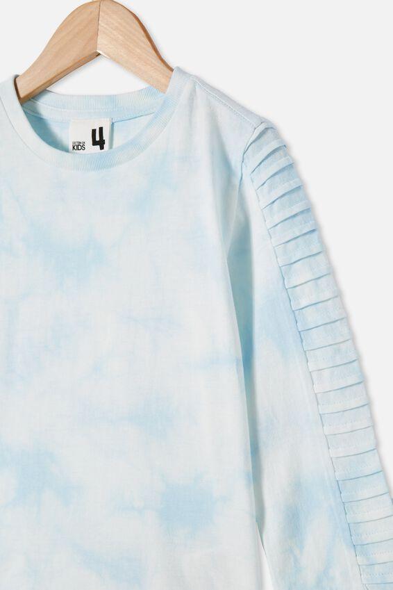The Creed Long Sleeve Moto Tee, FROSTY BLUE / TIE DYE