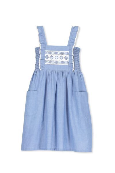 Dixie Dress, MID BLUE