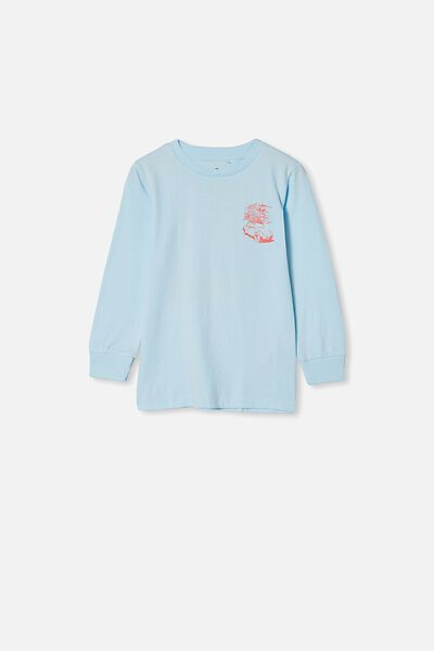 Tom Long Sleeve Tee, FROSTY BLUE/CAR