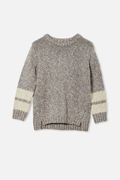 Blair Knit Crew, RABBIT GREY TWIST/STRIPE