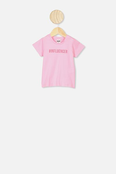 Jamie Short Sleeve Tee, CALI PINK/INFLUENCER