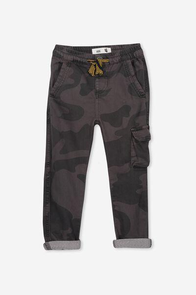 Kieran Cargo Pant, BLACK CAMO