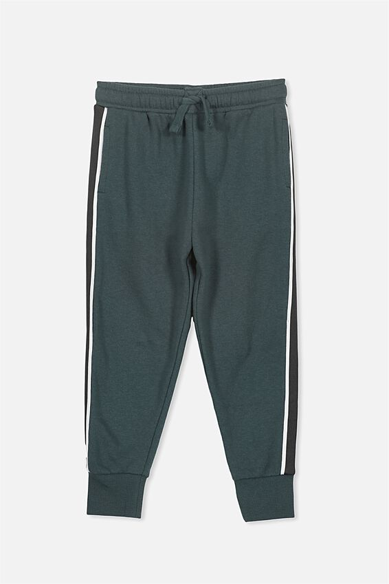 Lewis Trackpant, DEEP FOREST/STRIPE