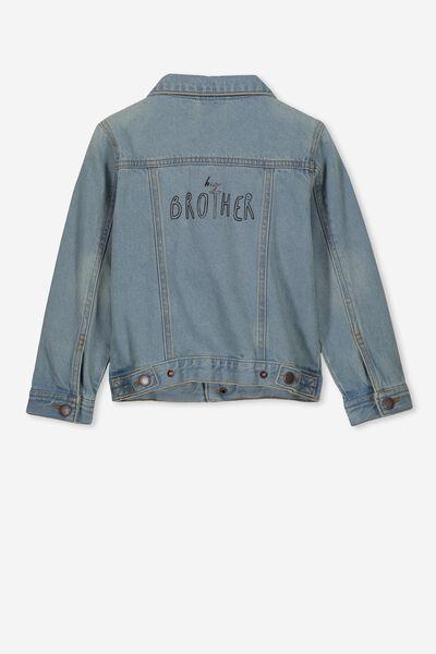 Quinn Denim Jacket Personalised, VINTAGE BLUE WASH