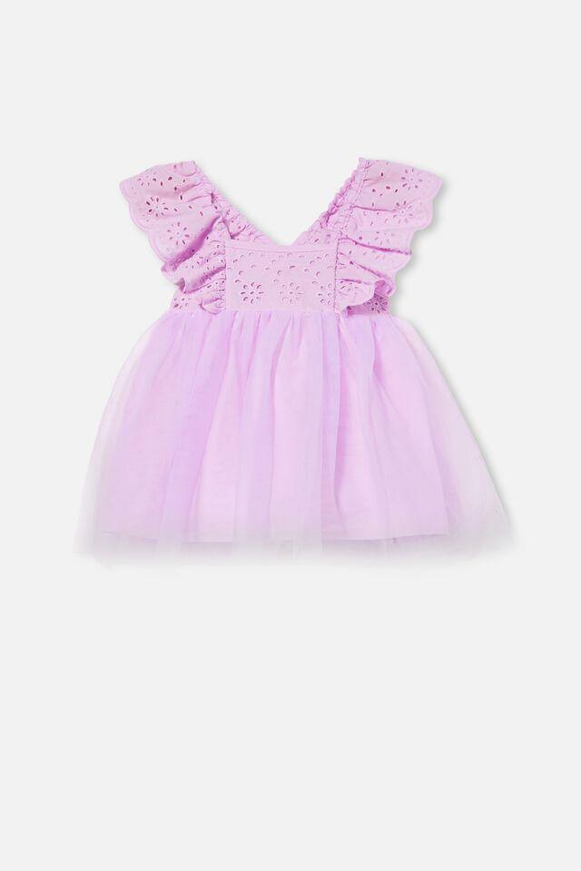 Evie Tulle Dress, PALE VIOLET