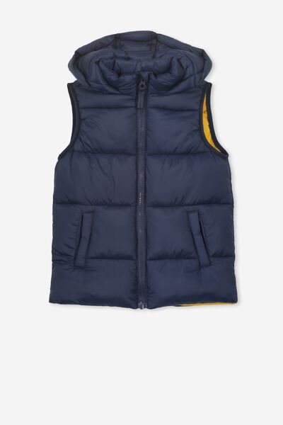 Billie Puffer Vest, NAVY