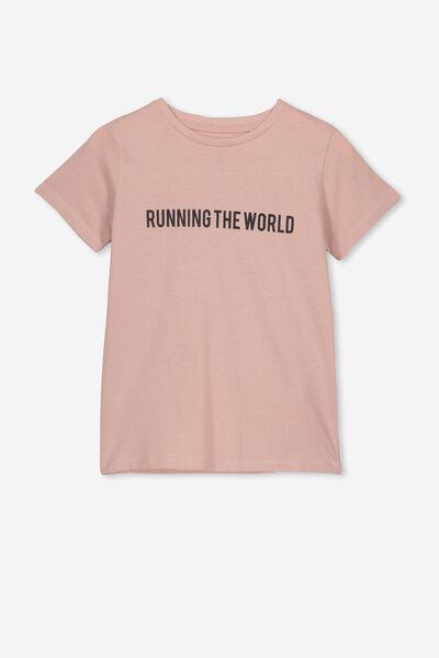 Penelope Short Sleeve Tee, PEACH WHIP/RUNNING THE WORLD/MAX