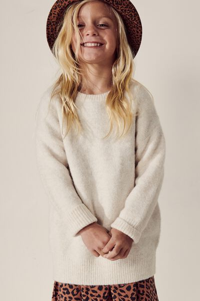 Brinley Knit Jumper, DARK VANILLA
