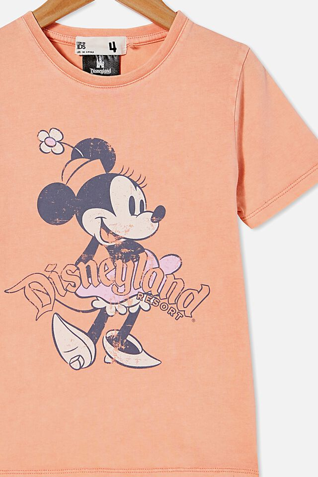 Disneyland Short Sleeve Tee, LCN DIS MINNIE FRONT AND BACK/MUSK MELON