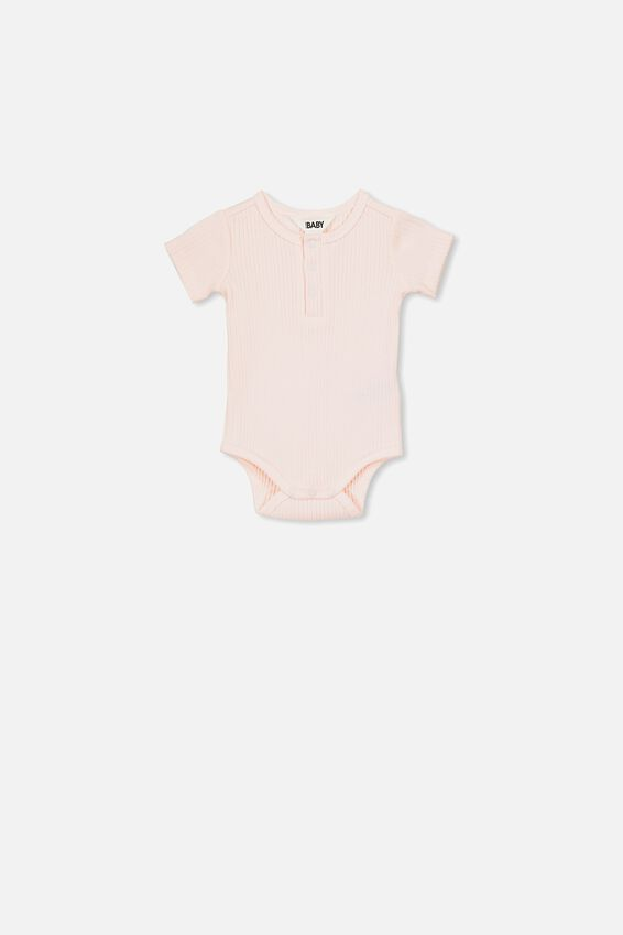 The Short Sleeve Button Bubbysuit, CRYSTAL PINK