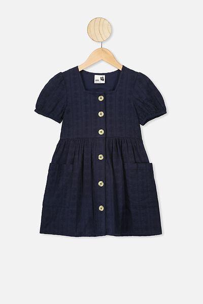 Keiko Short Sleeve Dress, INDIAN INK