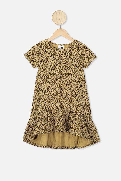 Joss Short Sleeve Dress, SAND DUNE/SNOW LEOPARD