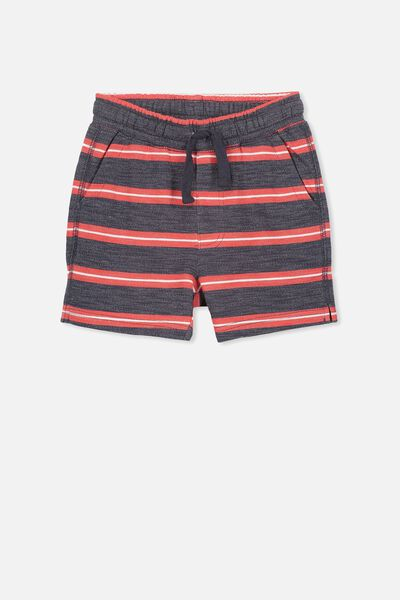 Henry Slouch Short, NAVY/STRIPE