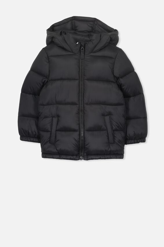 Frankie Puffer Jacket, BLACK
