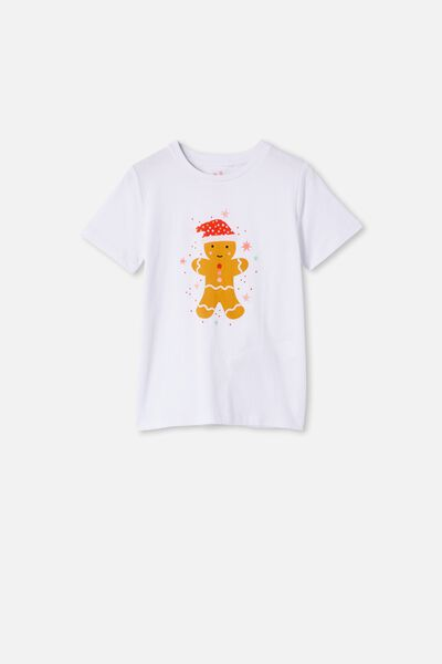 Penelope Short Sleeve Tee, WHITE/GINGERBREAD SCRATCH AND SNIFF NEW