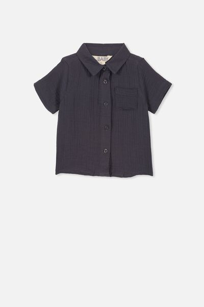 Mack Short Sleeve Shirt, GRAPHITE GREY