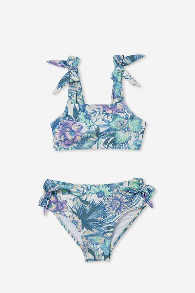 Andie Tie Bikini, DARK VANILLA/TROPICAL FLORAL