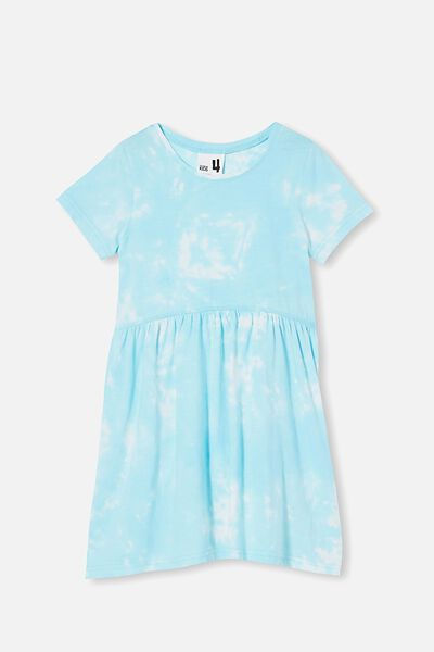 Freya Short Sleeve Dress, DREAM BLUE TIE DYE