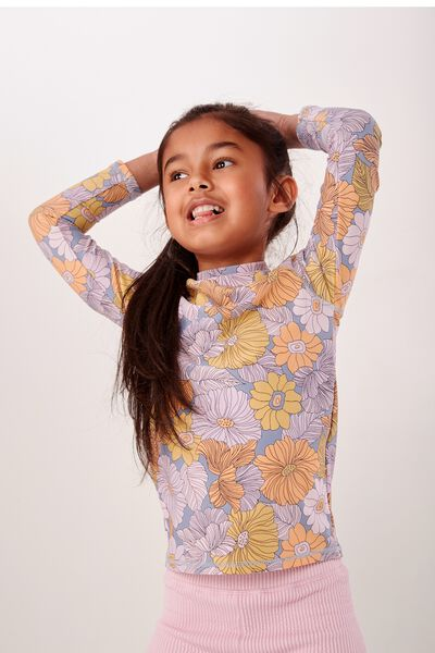 Hamilton Long Sleeve Rash Vest, RETRO FLORAL