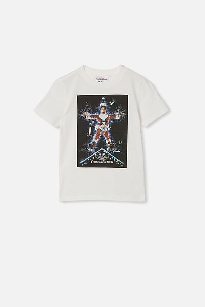Co-Lab Short Sleeve Tee, LCN WB RETRO WHITE/ NATIONAL LAMPOON