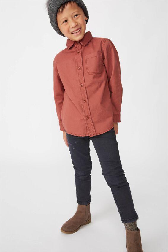 Fairfax Long Sleeve Shirt, HENNA