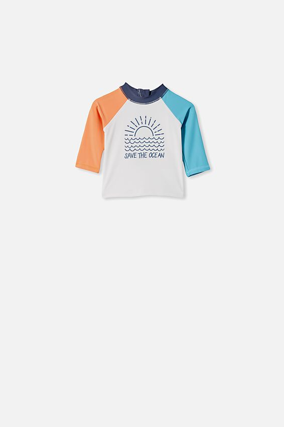 Freddie Rash Vest, VANILLA/SAVE THE OCEAN