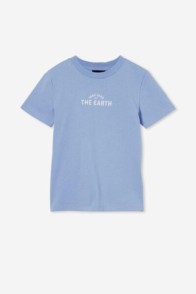 Co-Lab Short Sleeve Tee, LCN PEA DUSK BLUE / TAKE CARE OF THE EARTH