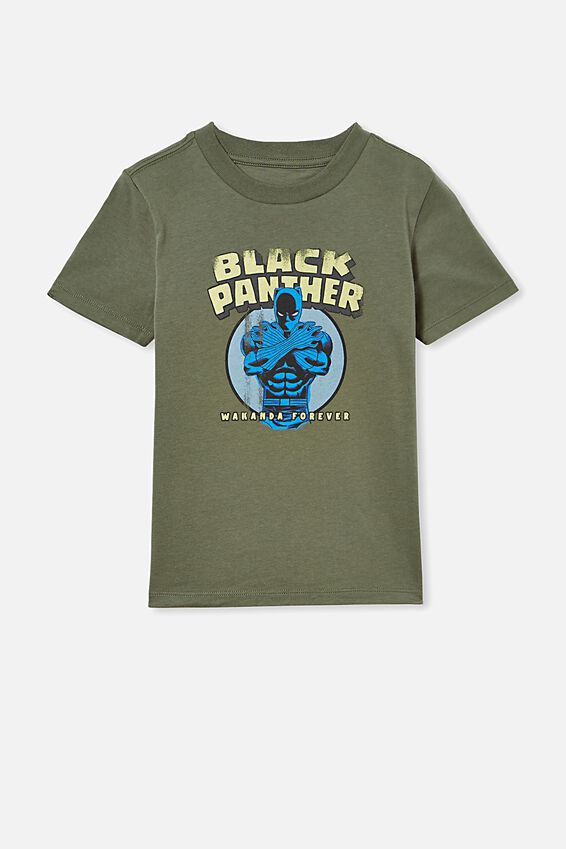 Co-Lab Short Sleeve Tee, LCN MAR SWAG GREEN / BLACK PANTHER