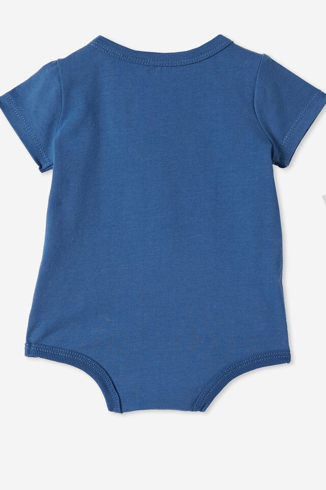 The Short Sleeve Bubbysuit, PETTY BLUE/DREAM BLUE FUTURE BESTIES
