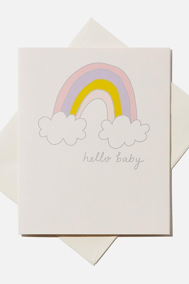 Baby Gift Card, HELLO BABY RAINBOW