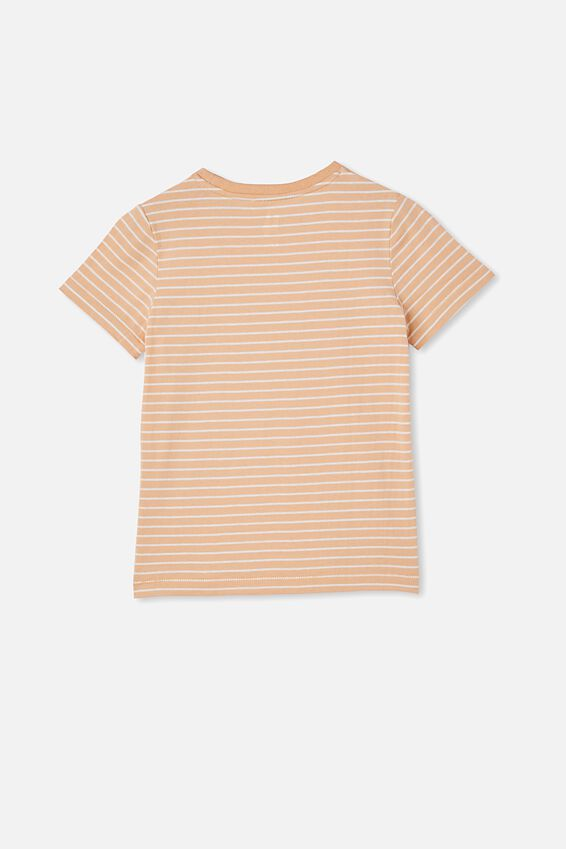 Core Ss Tee, PEACHY/VANILLA STRIPE