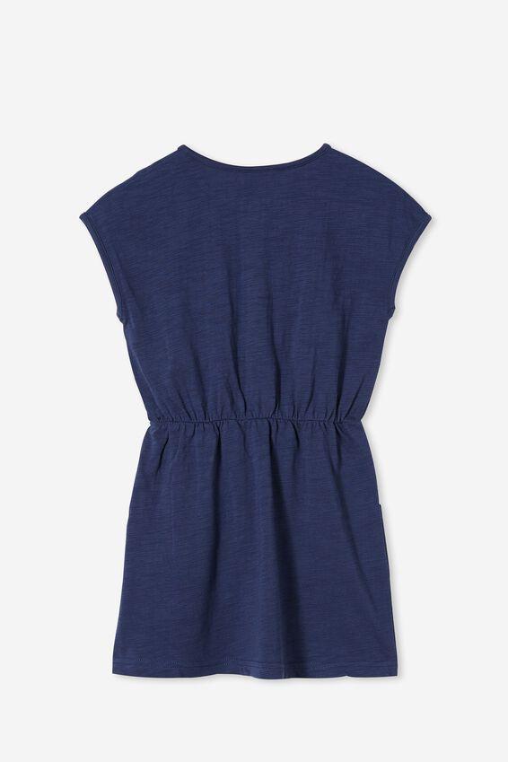 Sigrid Short Sleeve Dress, INDIGO