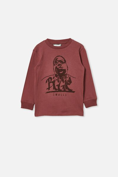 Co-Lab Long Sleeve Tee, LCN MT DUSTY BERRY /  BIGGIE
