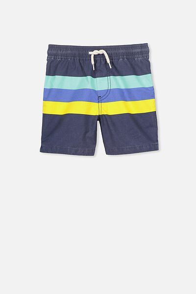 Murphy Swim Short, WASHED NAVY MULTI STRIPE